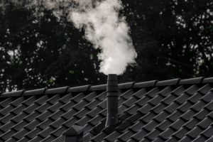 White smoke from a chimney